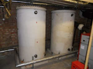 Hot water tank asbestos removal