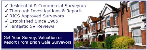 Why Choose Brian Gale Surveyors image houses and tick list